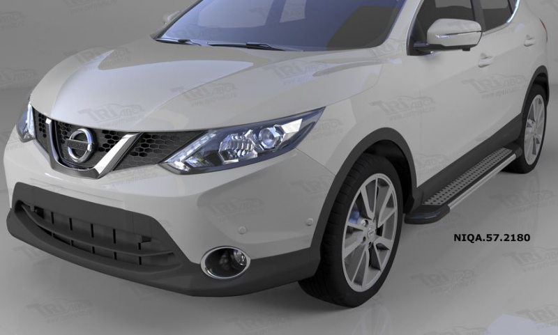 Пороги алюминиевые (Topaz) Nissan Qashqai (Ниссан Кашкай) (2014-), NIQA572180