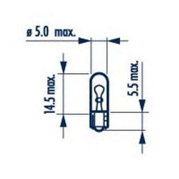 Лампа NARVA, 12 В, 1 Вт, W2x4,6d, 17037