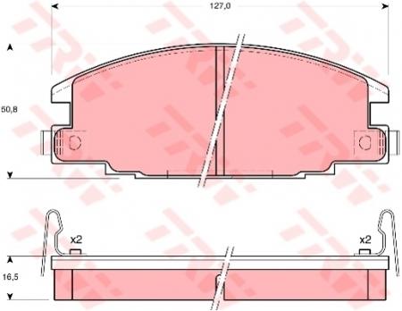 Колодки дисковые Передние, TRW, GDB870