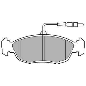 Колодки дисковые, DELPHI, LP793