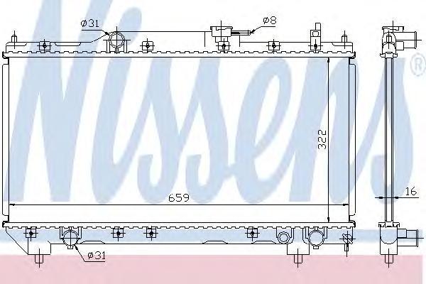 Радиатор системы охлаждения, NISSENS, 64781A