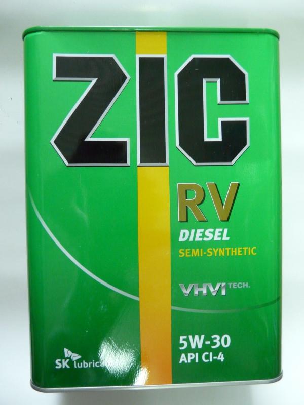 Масло моторное ZIC RV 5W-30, 4л, 167134