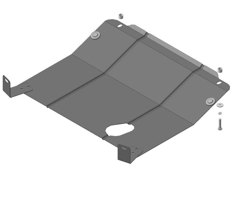 Защита картера двигателя, КПП Lada Granta 2011- Lada Kalina 2004- V= все (сталь 2 мм), MOTODOR62104