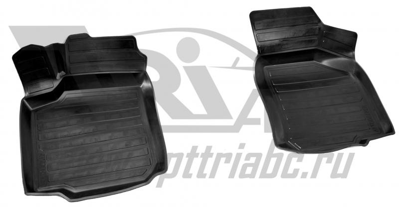 Коврики салона резиновые с бортиком для Seat Leon (1999-) (2 передних), ADRAVG2622