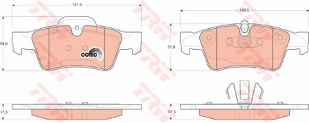 Колодки дисковые Задние, TRW, GDB1643