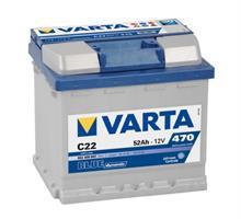 VARTA UNIVERSAL Аккумулятор Blue Dynamic C22 52Ач470А207х1