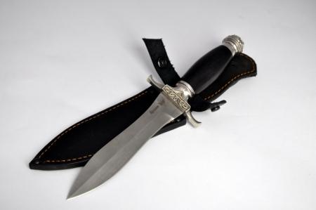 Нож Диверсант (булат, мореный граб, литье мельхиор), KNIFE YARD, 00054