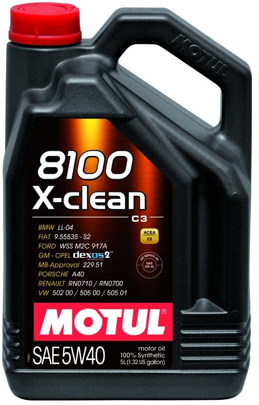 Моторное масло MOTUL 8100 X-Clean C3, 5W-40, 4 л, 104720
