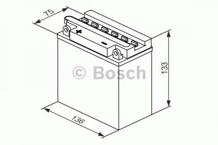 Аккумуляторная батарея Bosch Funstart FreshPack, 12 В, 7 А/ч, 40 А, 0092M4F220