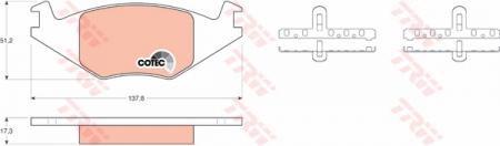 Колодки дисковые Передние, TRW, GDB463