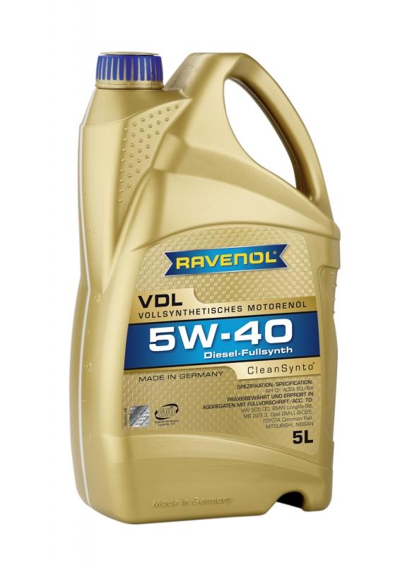 Моторное масло RAVENOL VDL, 5W-40, 5л, 4014835723757