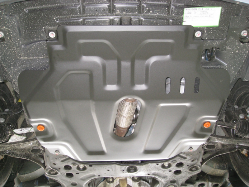 Защита картера двигателя и кпп Chevrolet Aveo (Шевроле Авео) T300,V-все (2012) штамп. (Сталь 1,8 мм)