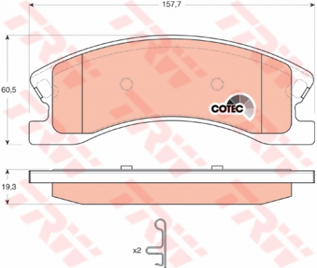 Колодки дисковые Передние, TRW, GDB4133