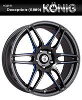 Колесный диск Konig S889 7.5x17/5x114,3 D73.1 ET40 черный, по лучам частично синий (GBQPlB)