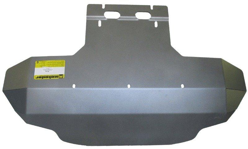 Защита картера двигателя, КПП, радиатора Audi Q7 2005-2015 V=3,0 TDI, V=4,2TD (алюминий 5 мм), MOTOD