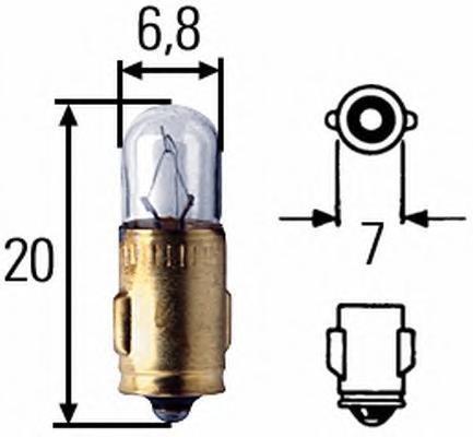 Лампа, 24 В, 3 Вт, J, BA7s, HELLA, 8GP 002 066-241