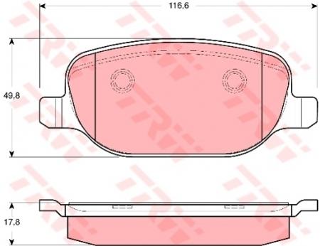 Колодки дисковые Задние, TRW, GDB1649
