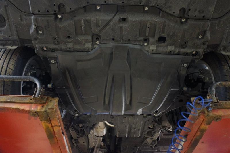 Защита картера двигателя и кпп Lexus RX, V-все (2016-)(композит 6 мм), 2423K