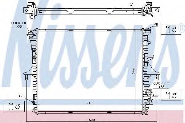 Радиатор системы охлаждения, NISSENS, 65276A