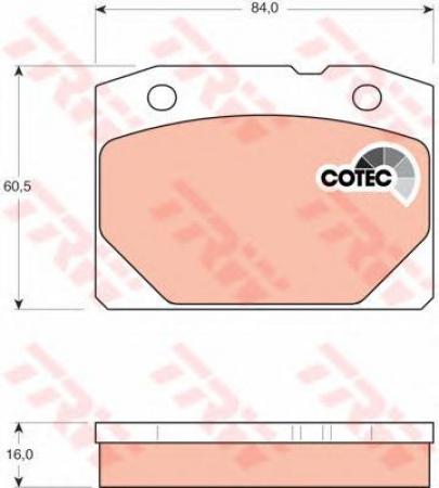 Колодки дисковые Передние, TRW, GDB140M