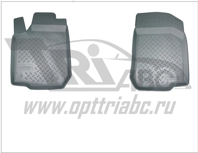 Коврики салона для УАЗ Патриот\ Pickup\ Cargo 3D (2014-) (передние) Серый, NPA10C93504GREY