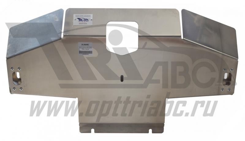 Защита картера Land Rover Discovery IV, V-2,7TD;3,0TD(2009-) + бампер (Алюминий 4 мм), 3506ABC