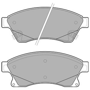 Колодки дисковые, DELPHI, LP2142