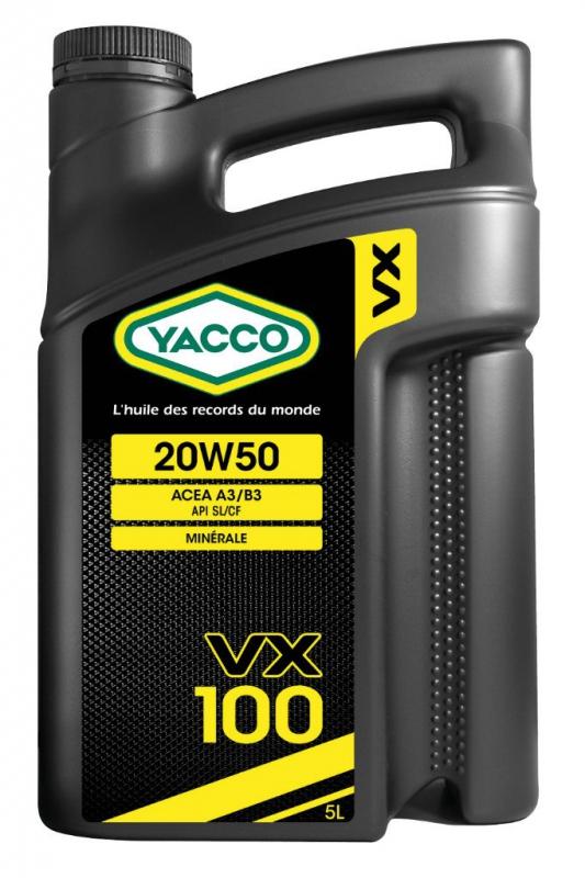 Масло моторное YACCO VX 100 минер. 20W50,SL/CF (5 л)