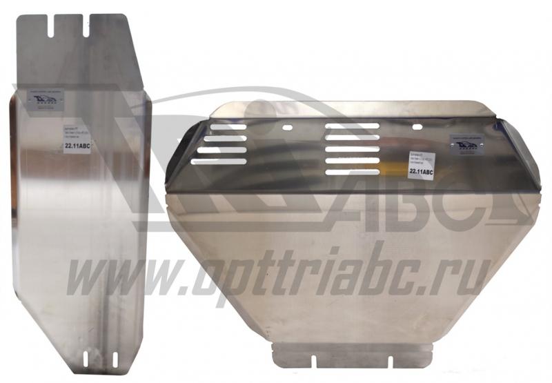 Защита картера и КПП Subaru Forester V-2.0Turbo, АКПП (2013-) 2 части (Алюминий 4 мм), 2211ABC
