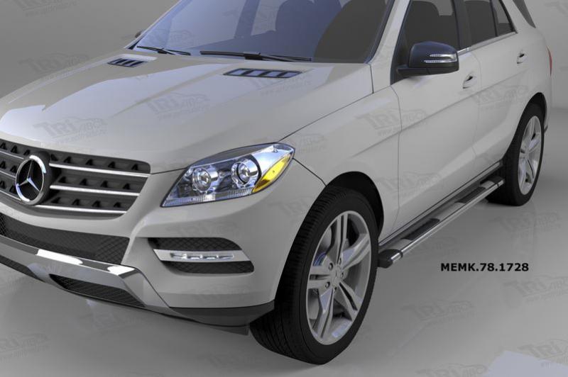 Пороги алюминиевые (Emerald silver ) Mercedes ML W166 (2011-), MACX781729
