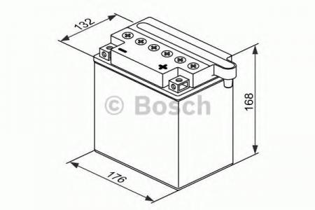 Аккумуляторная батарея Bosch Funstart FreshPack, 12 В, 30 А/ч, 300 А, 0092M4F600