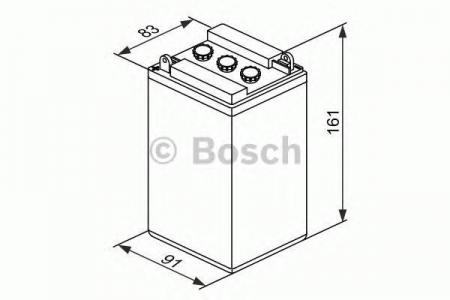 Аккумуляторная батарея Bosch Funstart FreshPack, 12 В, 8 А/ч, 40 А, 0092M4F100