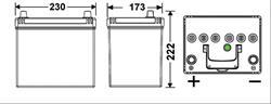 АКБ EXIDE Excell 12V 60Ah 390A 230x172x220 /+