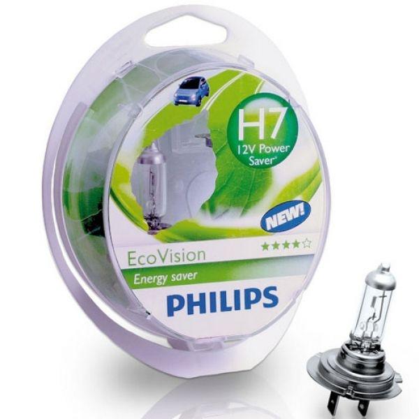 "Лампа ""EcoVision"", 12 В, 55 Вт, H7, PX26d, PHILIPS, 12972 ECOS2"