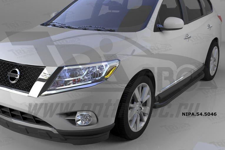 Пороги алюминиевые (Sapphire Black) Nissan Pathfinder (2014-), NIPA545046