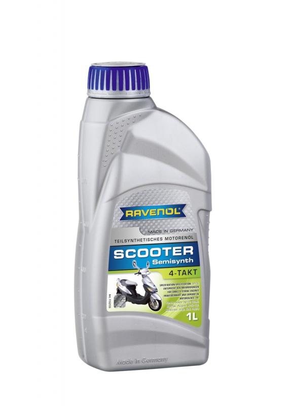 Моторное масло RAVENOL SCOOTER 4-Takt Teilsynth, 1 л, 4014835728219