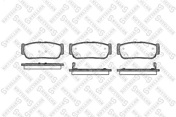 Колодки дисковые, STELLOX, 1074002SX