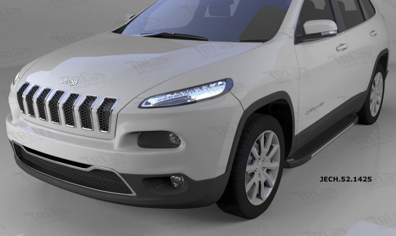 Пороги алюминиевые (Onyx) Jeep Cherokee (2014-), JECH521425