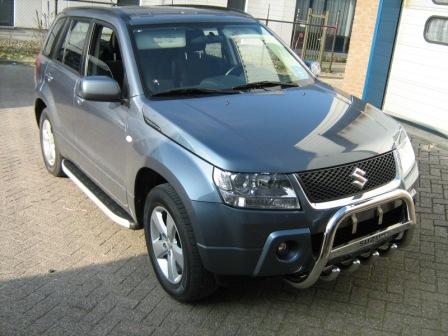 Пороги алюминиевые (Alyans) Suzuki Grand Vitara (2006-2010-) (без брызговиков), SUGV473207