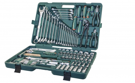 """S04H524127S Универсальный набор инструмента 1/2"""" и 1/4"""" DR. 127 предметов"""
