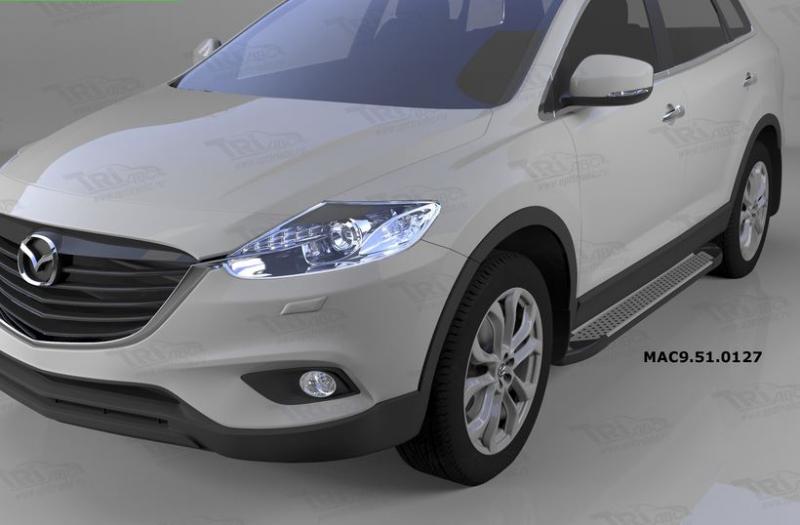 Пороги алюминиевые (Sapphire Silver) Mazda (Мазда) CX9 (2013-), MAC9510127