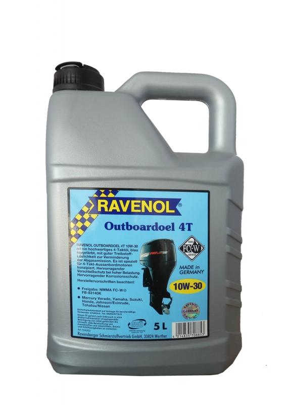 Моторное масло RAVENOL Outboardoel 4T, 10W-30, 5л, 4014835708853