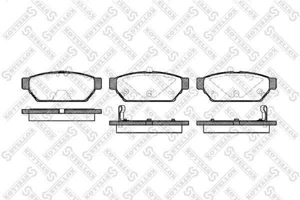 Колодки дисковые, STELLOX, 451002BSX