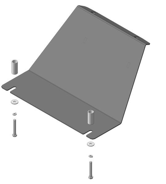 Защита картера двигателя Chevrolet Niva 2002- V=1,7i (сталь 3 мм), MOTODOR13005