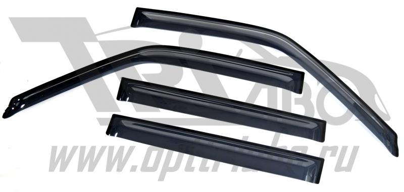 Дефлекторы боковых окон Nissan NP300 (4 дв) (2008-) (темн), SNINP3000832