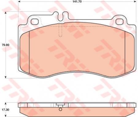 Колодки дисковые Передние, TRW, GDB1822