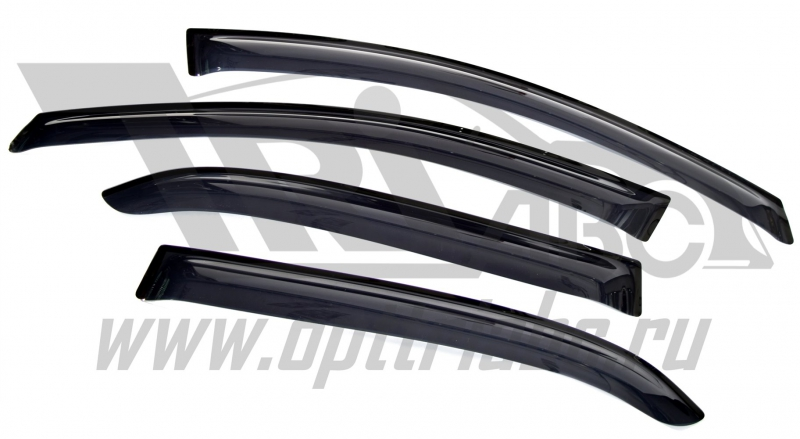 Дефлекторы боковых окон Renault Logan SD (2014-) (4шт.) (темн.), SRELOG1432