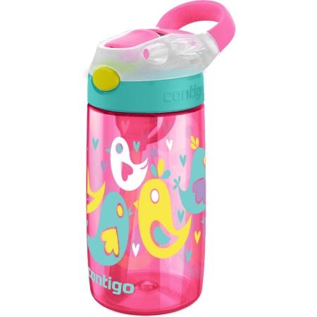 Детская бутылка для воды Contigo Gizmo Flip, розовая с птицами, 420 мл, 10000468