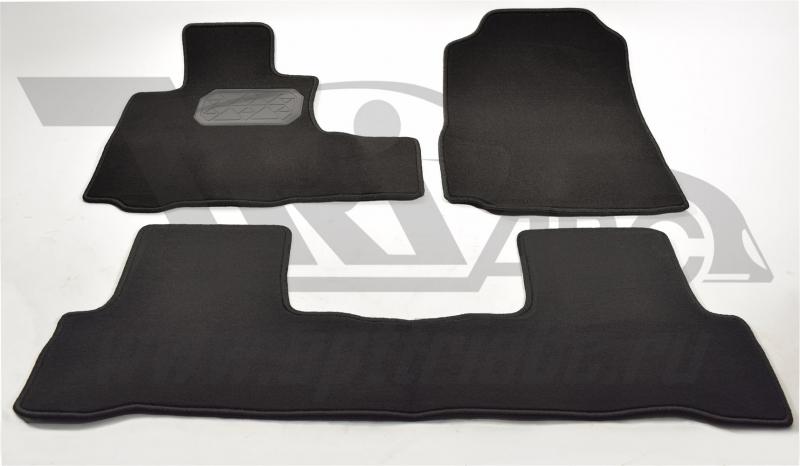 Коврики салона текстильный Honda (Хонда) CR-V (2006-2012) (Велюр, полиамид) (подп. п/у) (черные), NP