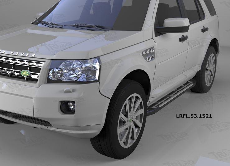 Пороги алюминиевые (Corund Silver) Land Rover Freelander 2 (2008-), LRFL531521
